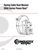 Manual - Cable Reels, 3500 Series Hazardous Loc.