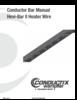 Manual – Conductor Bar, Hevi-Bar II Heater Wire
