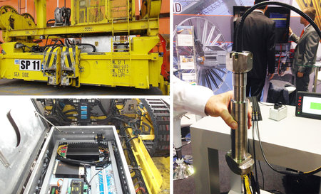 3 pictures who show the LASSTEC Container Weighing System
