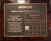 Caterpillar Supplier Quality Excellence Process (SQEP) Award