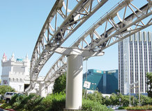 """Transfer between the hotels """"Excalibur"""", """"Luxor"""" and """"Mandalay Bay Resort"""" in Las Vegas [cable liner system 