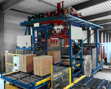 Machine for Prefabricated brick walls