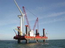 """Offshore """"Jack-up Vessel"""" platform"""