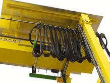 Cable Festoon System in use on a Gantry Crane