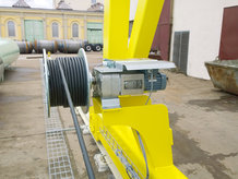 Motorized Cable Reel in use on a Gantry Crane