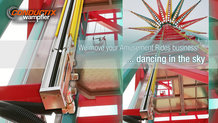 Tower swing carousel at Zamperla