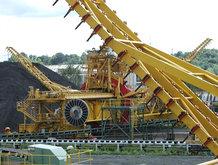 Feeder for a ladder gantry (coal mine)